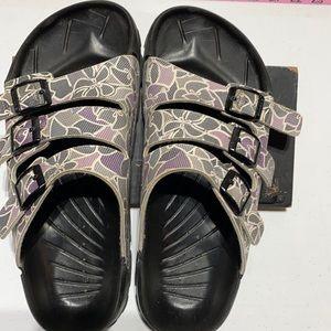 BIRKI'S 3 strap sandals. Size 9 1/2.  EU size 40